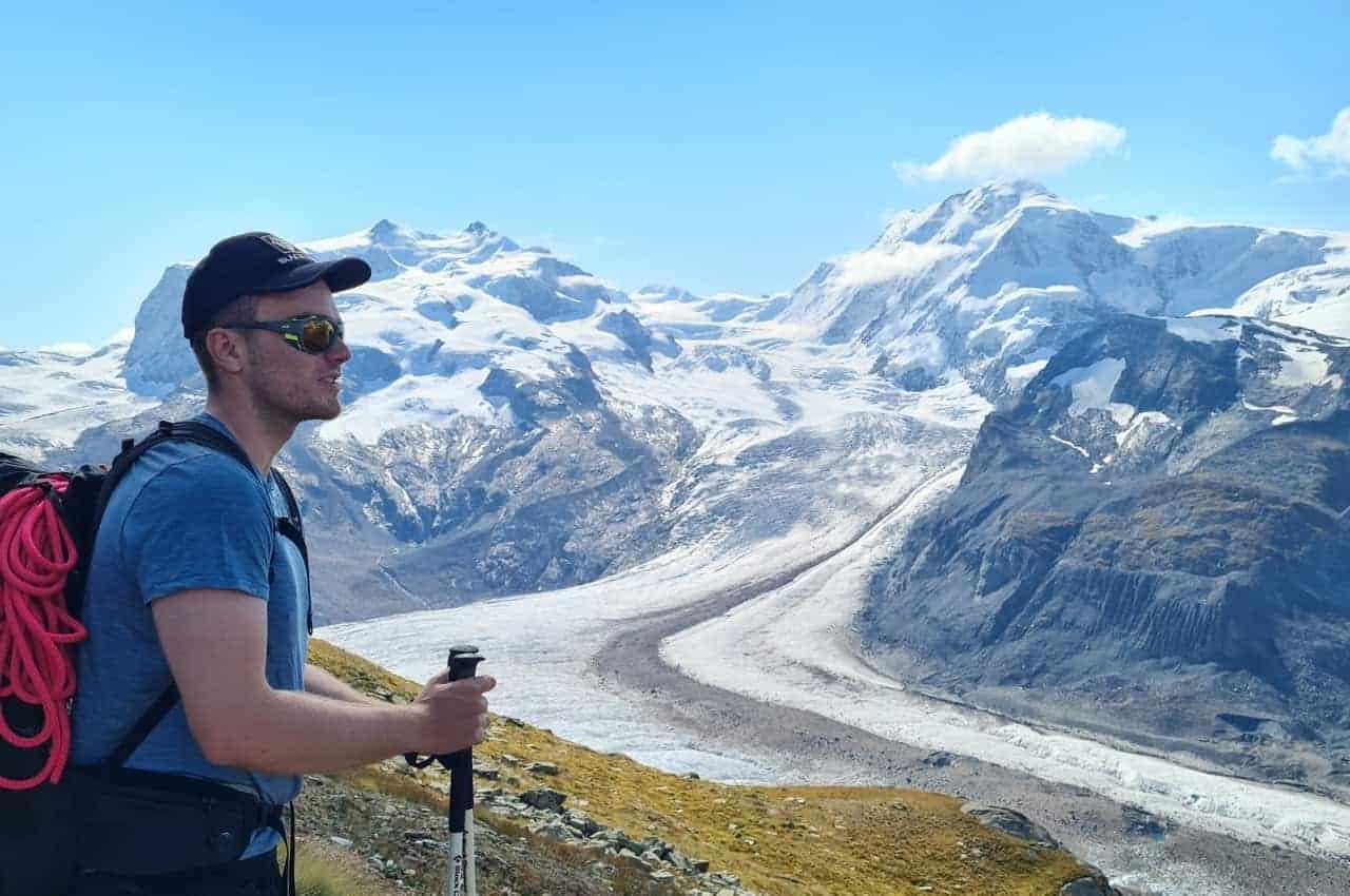 Bergsteigen auf die Dufourspitze